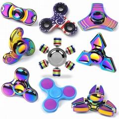 Hand Spinner Multicolor Aluminum alloy Bearing Finger Spinner  toys