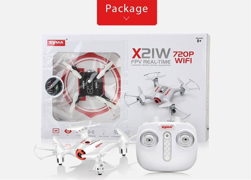 SYMA X21W Mini drone with camera WiFi FPV 720P HD 2.4GHz 4CH 6-axis RC Helicopte 11