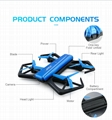 JJRC H43WH RC Foldable Drone with WiFi 720P HD Camera RC Quadcopter Drone