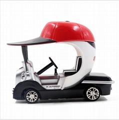 Colorful Plastic Mini RC Golf Car with Headlights for Children Gift 8011