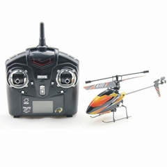 V911 4CH 2.4G Single Blade Gyro RC MINI Helicopter With LCD transmitter