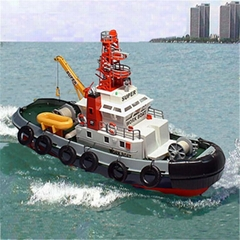 3810 RC Seaport Tug Boat Henglong Water Jetting RC Fire Boat