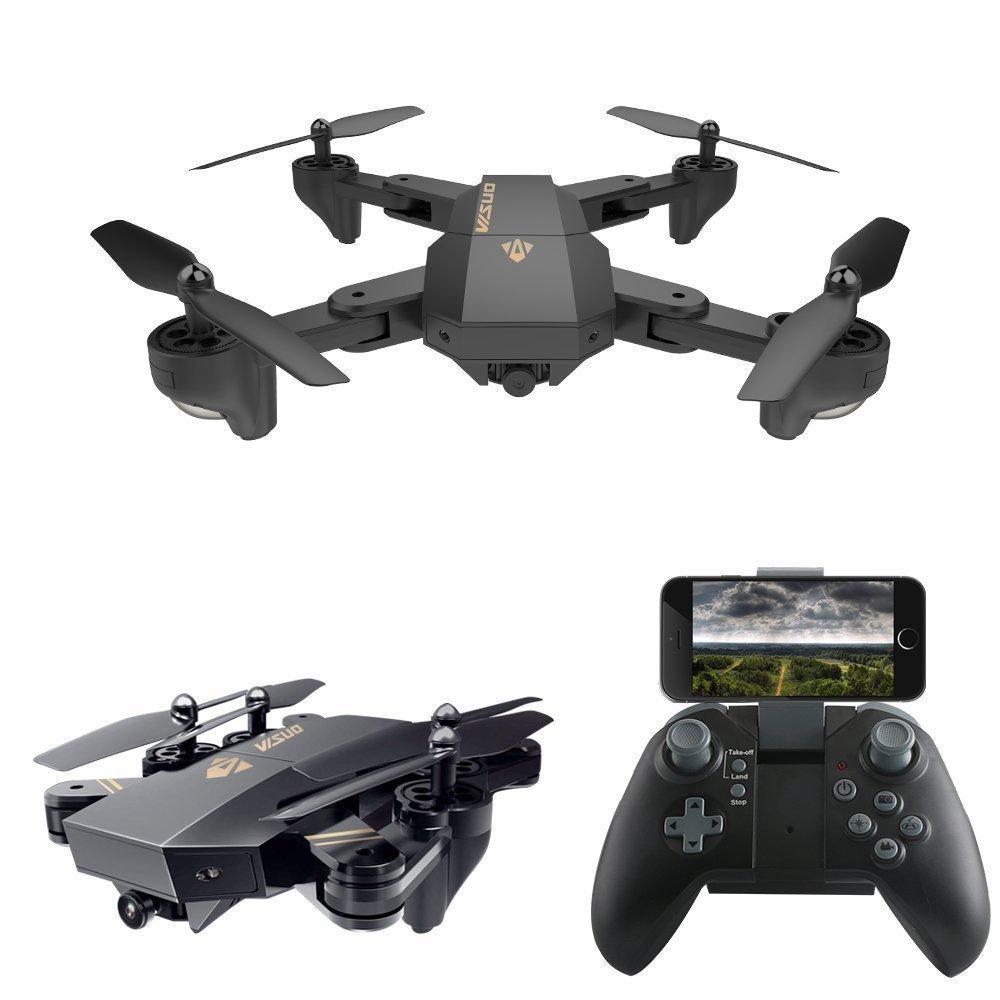VISUO XS809W Foldable RC Quadcopter RTF WiFi  Camera Drone 5