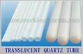 transparent translucent quartz tube