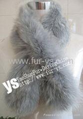 Fur Knitted Scarf