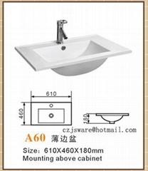 cabinet basin,thin edge basin,bathroom sink