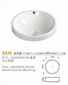 Sanitary Ware Adove Counter Basin Bathroom Sink A291