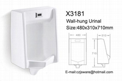 Ceramic wall hung sensor urinal suppliers