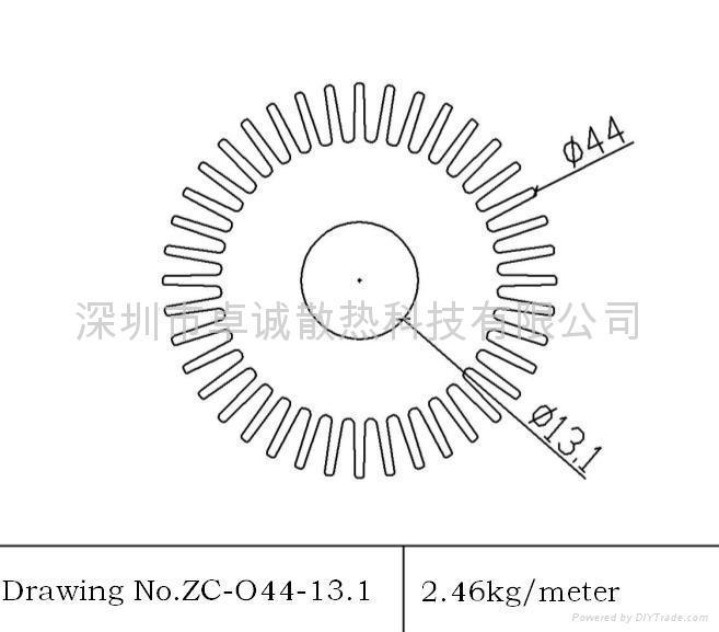LED球泡灯散热器 2