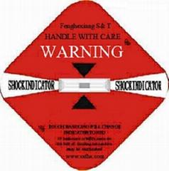 patent Shockindicator shock watch label