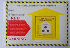 Tiltindicator tilt watch label looks for distributor