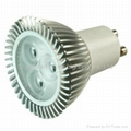 Dimmable LED spotlight GU10 3*1W