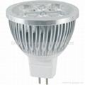 High power led spot lamp MR16 4X1W