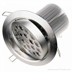 High power Bridgelux 18w led downlight