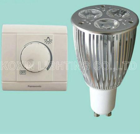 Dimmable led bulb lamp GU10 3*3W 1