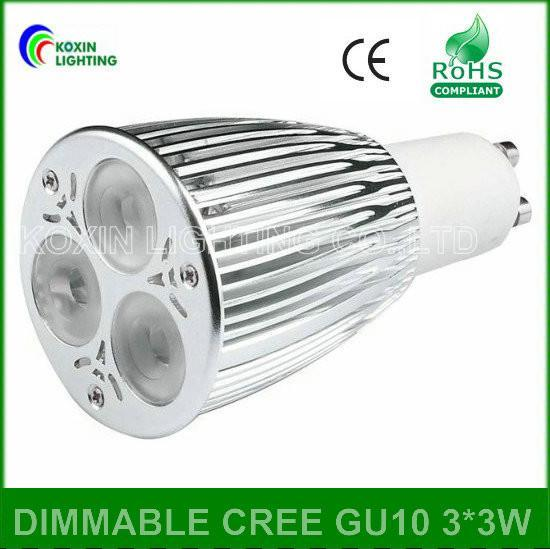 Dimmable led bulb lamp GU10 3*3W 3