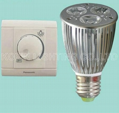 Dimmable led bulb light E27 3*3W
