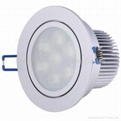 7*1W 220v led downlight(Antifog Function)