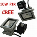 10W PIR high power Cree LED floodlight