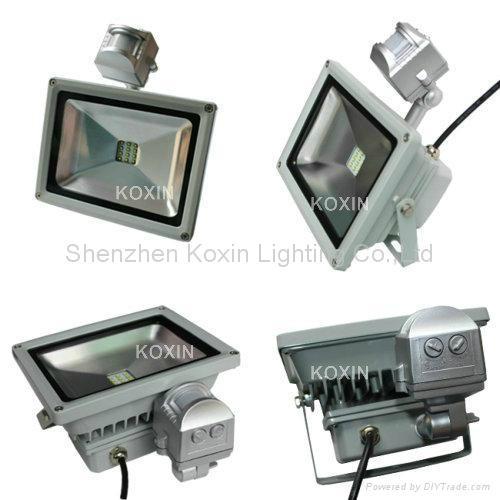 10W PIR high power Cree LED floodlight wall light spotlight projetor downlight  2