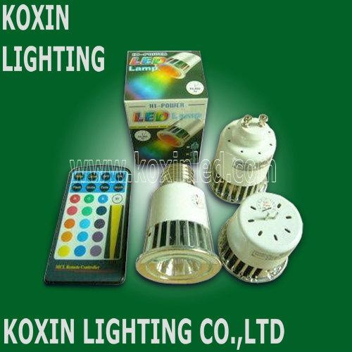 5W RGB led spotlight with IR remote controller 2