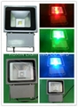 81W RGB high power led floodlight with IR remote 1