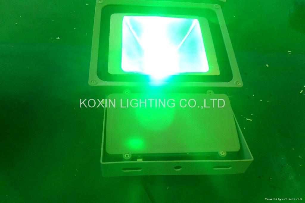 81W RGB high power led floodlight with IR remote 4