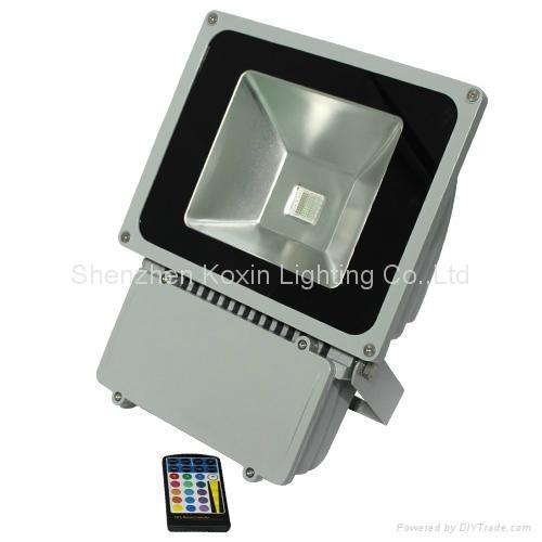 81W RGB high power led floodlight with IR remote 5
