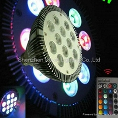High power color changing 12W RGB led par light(with remote controller)