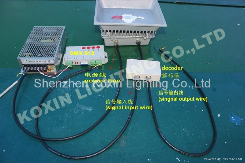 DMX Controlled 30W RGB LED Floodlight Outdoor IP65 3