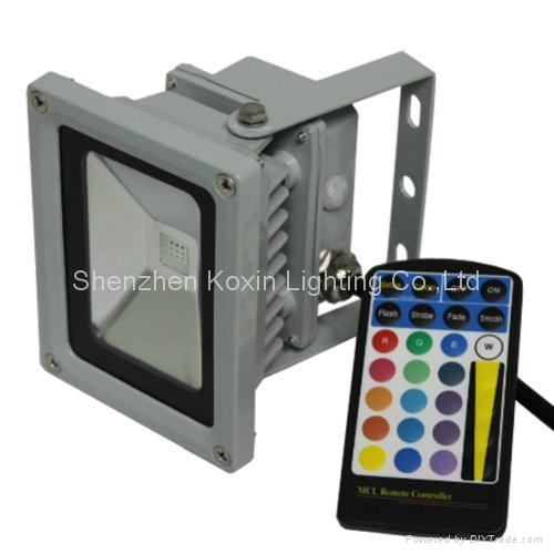 10W RGB floodlight with IR remote controller 1