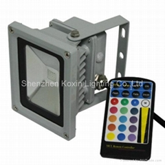 10W RGB floodlight with IR remote controller