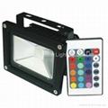 10W RGB floodlight with IR remote controller 2