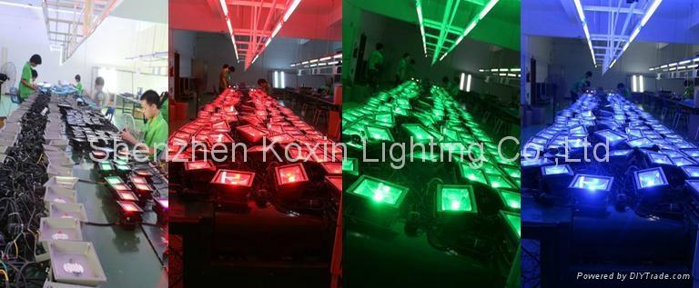 10W RGB floodlight with IR remote controller 3