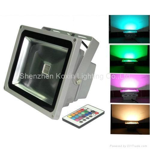 54W RGB LED Floodlight( CE/RoHS+Waterproof IP65) 1