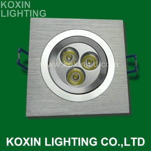 the popular 9w led downlight(Triad of a lens)   4