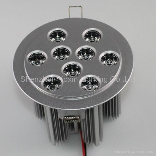 9*3W high power led ceiling light 3
