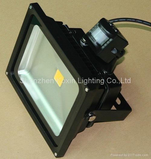 30W high power led floodlight with PIR sensor control 4