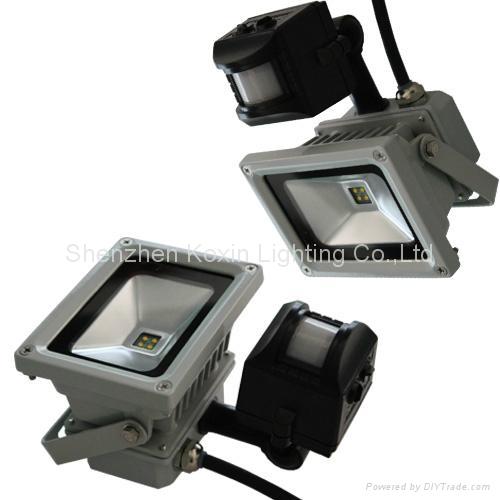 2012 NEW:30W led flood lights with PIR sensor control 2