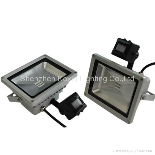 2012 NEW:30W led flood lights with PIR sensor control 3