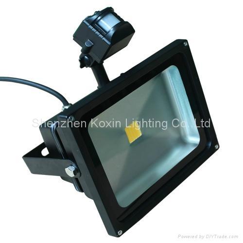 2012 NEW:30W led flood lights with PIR sensor control 4