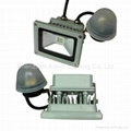 10W CREE led floodlight with light