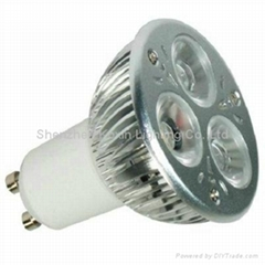 High power led spot lamp GU10 CREE 3X2W