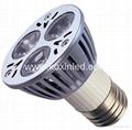 High power led spotlight E27 3x1W