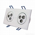 6*1W led downlight square(CE/ROHS