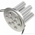 9*3W high power led ceiling light