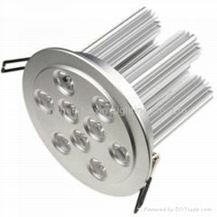 9*3W high power led ceiling light