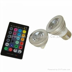 3W high power rgb led spots with IR remote controller