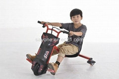 New Arrival Kids CE Electric Prayer 3 Wheel Colourful Drift Trike Scooter