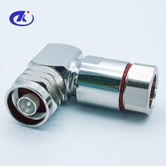 N type right angle plug connector for 1/2 superflexible cable